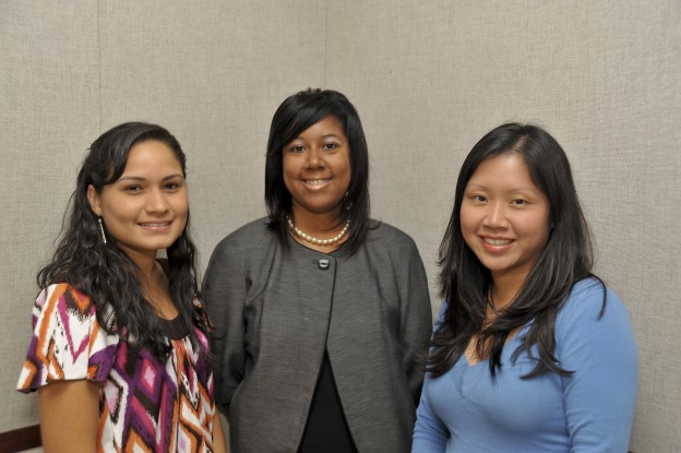 From left, employees Adrianna Jones, Dr. Deborah Myles, and Clare Iannelli are stepping into new roles at the North campus.