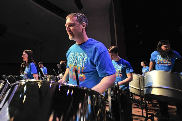 The Central Campus Steel Band was under the direction of music professor Mike Mizma.