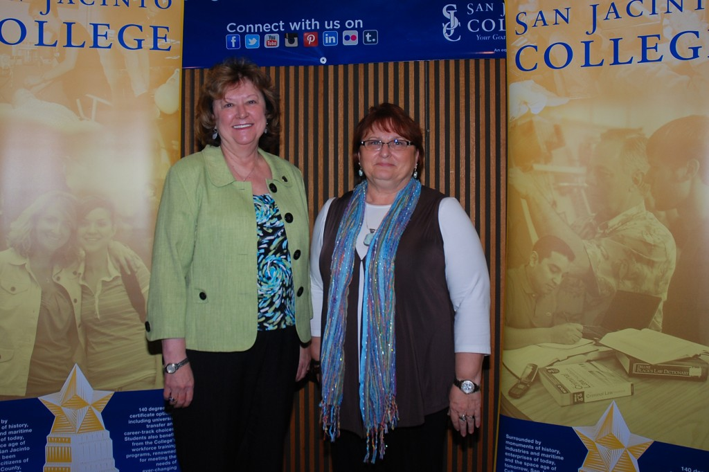 Dr. Laurel Williamson, deputy chancellor and college president, recognized Dr. Rebecca Goosen, vice chancellor for college preparatory, for becoming a Council of Learning Assistance and Developmental Education Associations (CLADEA) Fellow.