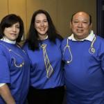 Tina Sanchez, Amy Ammerman, and Tom Cortez at Texas Children's Hospital.