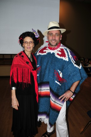 Dr. Ann Cartwright and Jose Antonio Robles. Cartwright told of the life of Frida Kahlo.