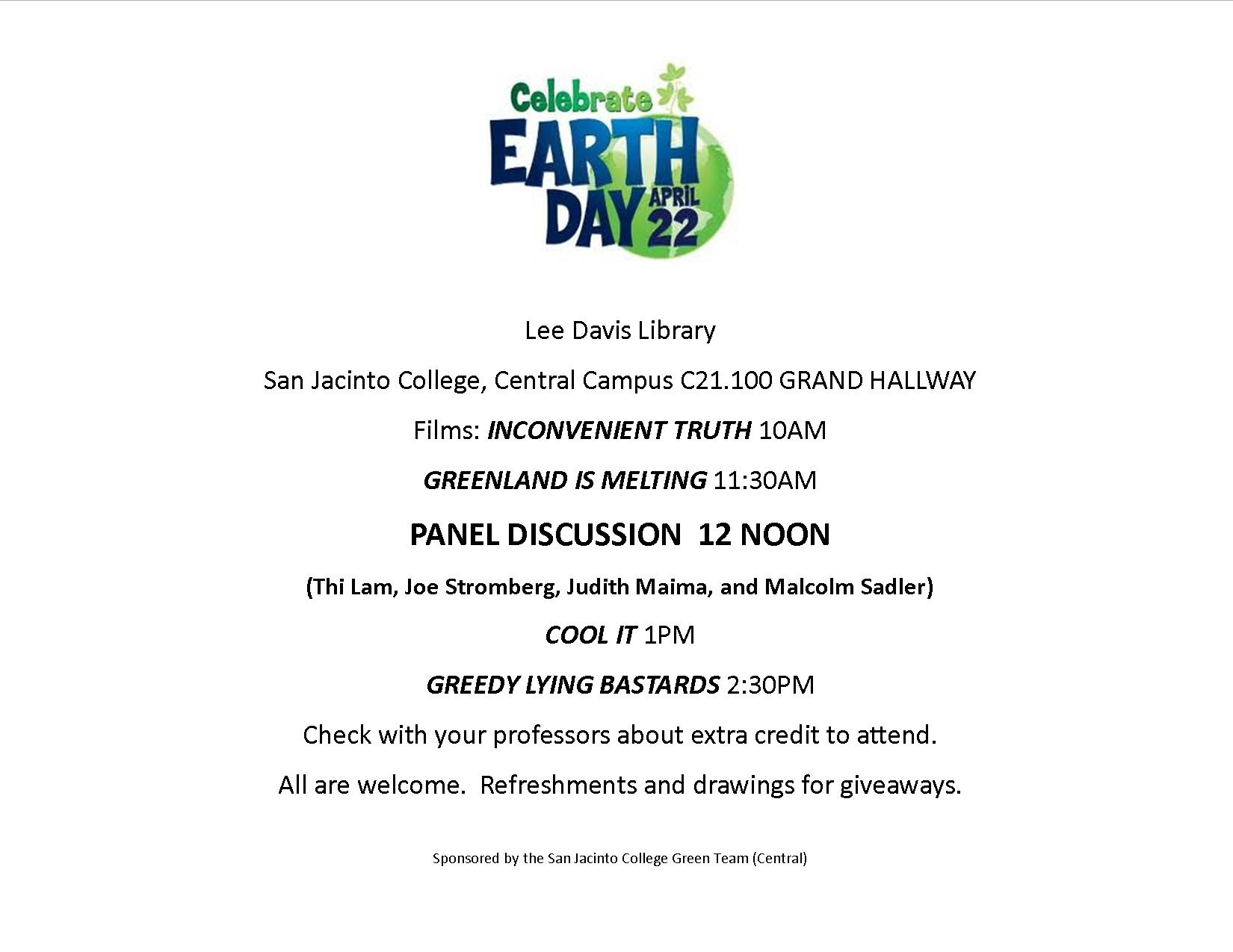 Earth Day 2015 flyer