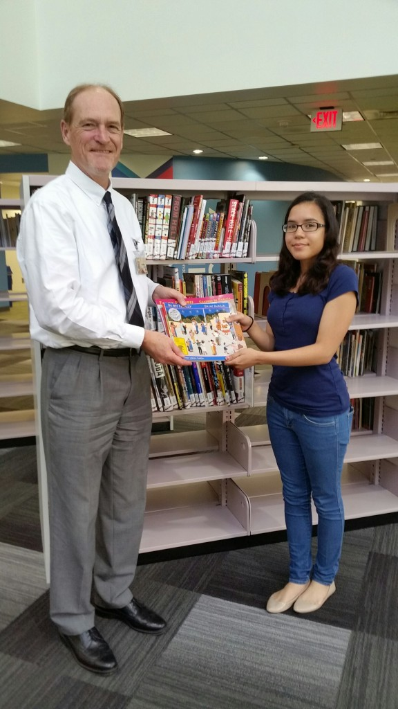 HSF book donation with Leda and Rich