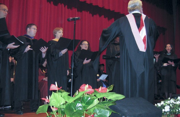 The North campus Faculty Choir is under the direction of Edgar Moore.