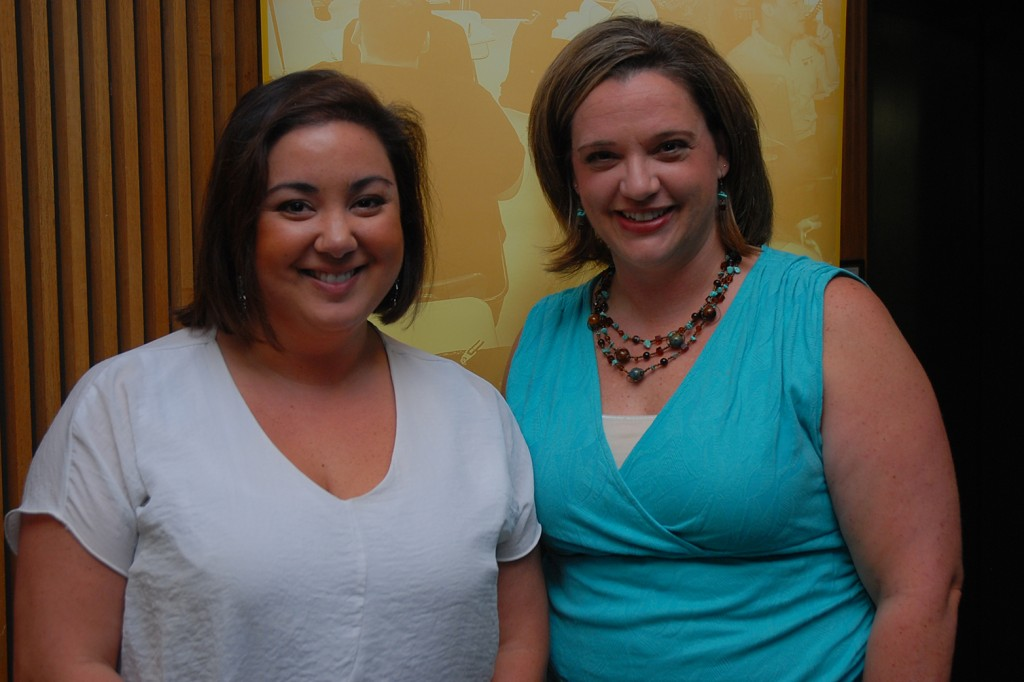 """Jeannie Peng-Armao, communications coordinator, was recognized for winning a National Council for Marketing and Public Relations (NCMPR) District 4 Gold Medallion Award for her communications success story titled """"A Comeback: How getting left out resulted in more media coverage."""" She is pictured (left) with Amanda Booren, director, marketing and public relations."""