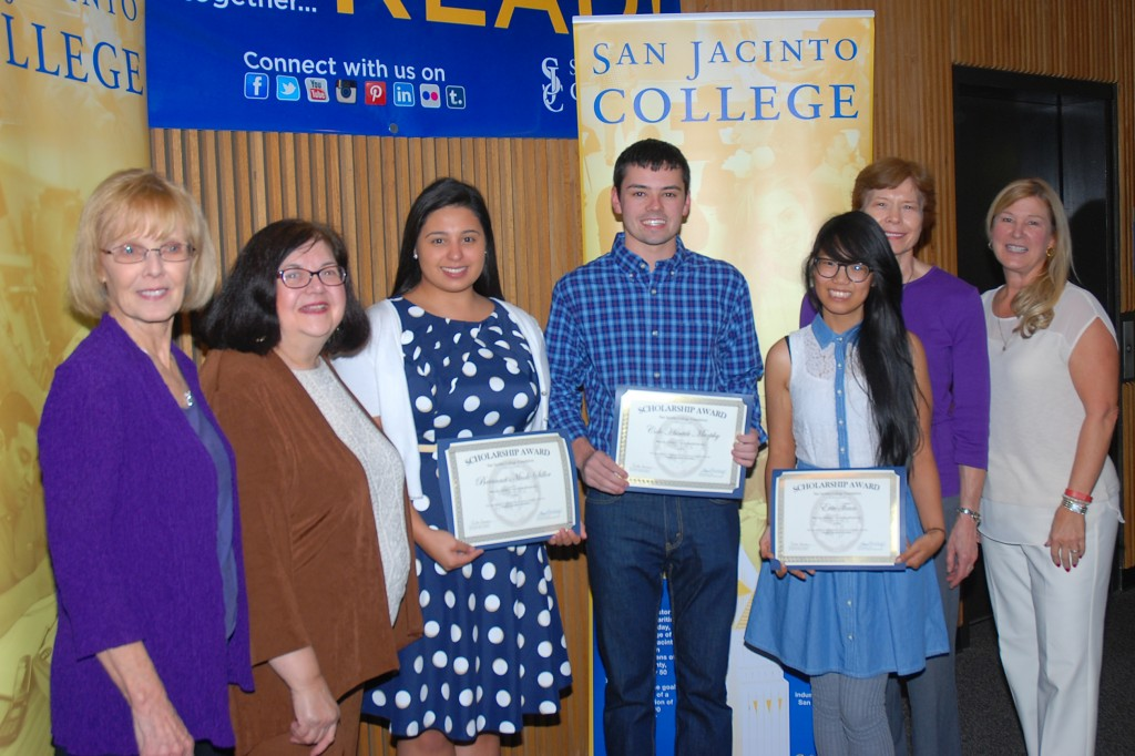 Three chemistry students were recognized for each receiving a $500 scholarship from the Houston Chemical Association.