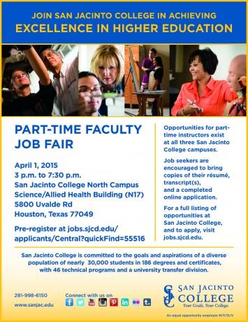 Part Time Faculty Job Fair 4.1.2015B